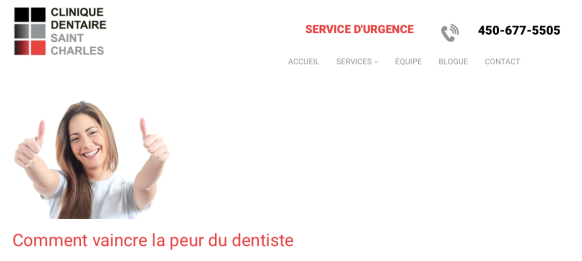 Urgence dentaire Clinique dentaire Saint-Charles