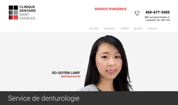 Denturologiste Clinique dentaire Saint-Charles