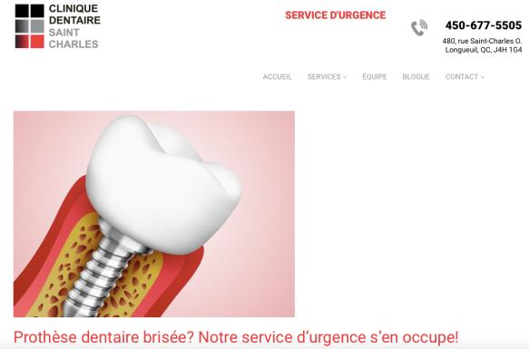 Prothèse dentaire. Clinique dentaire Saint-Charles