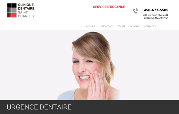 urgence dentaire clinique denatire saint-charles.