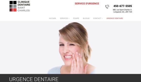Urgence dentaire. Clinique dentaire Saint Charles.