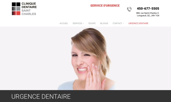 Urgence dentaire. Clinique dentaire Saint Charles