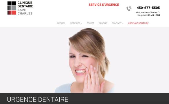 Urgence dentaire DIMANCHE. Clinique dentaire Saint Charles.png