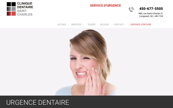 Urgence dentaire. Clinique dentaire Saint Charles