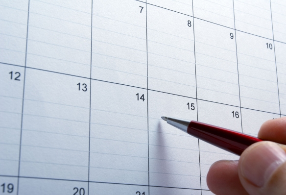 4848551 - close up of calendar a