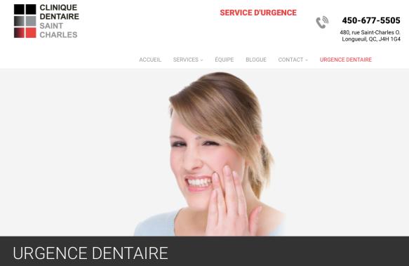 URGENCES DENTAIRES Clinique dentaire Saint Charles